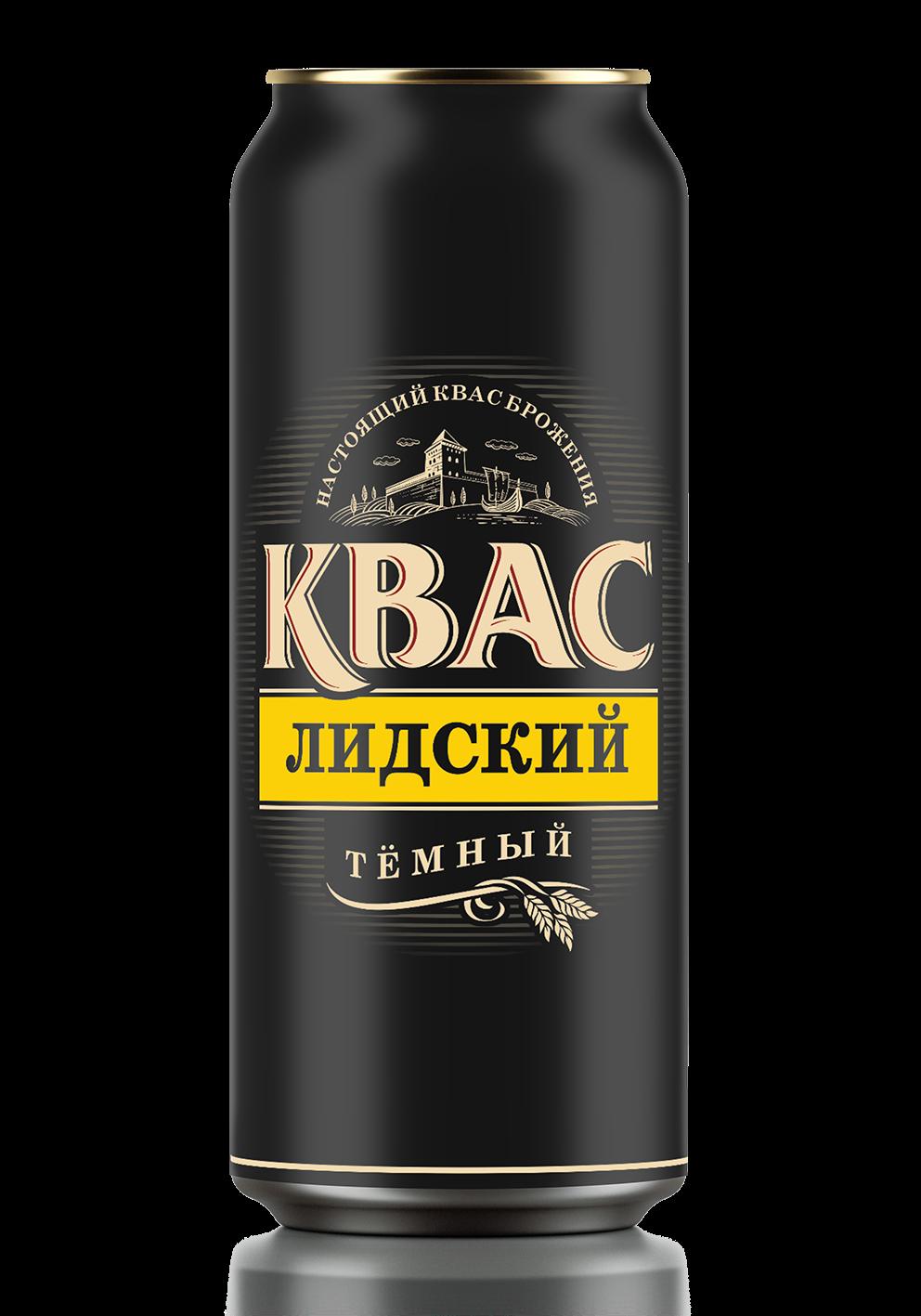 «Лидское пиво» представило темный квас в алюминиевой банке