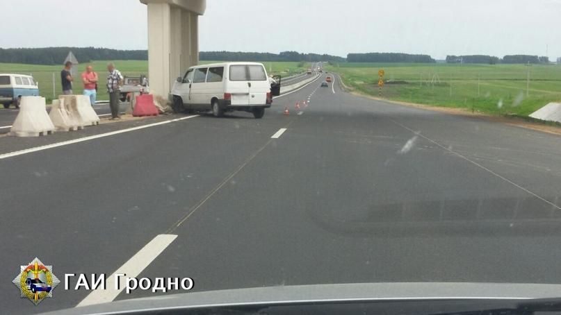 ДТП под Лидой: автомобиль стал поворачивать прямо перед бусом