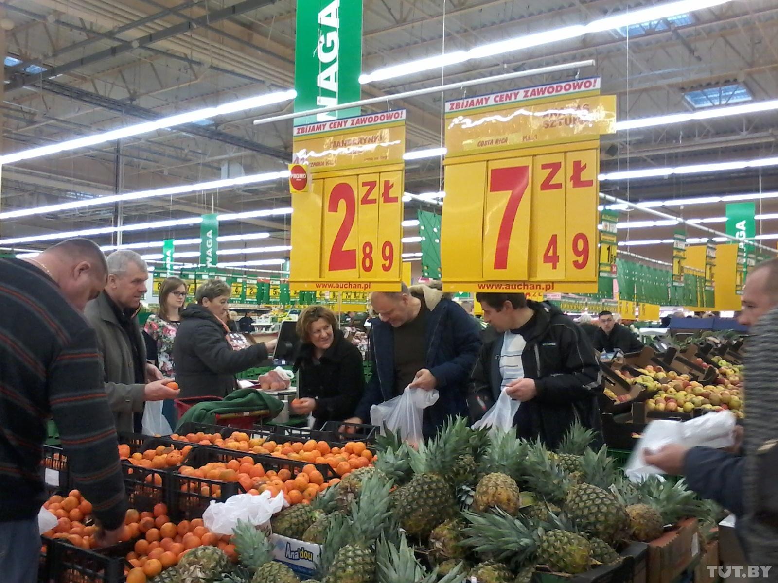 Белорусы стали тратить в магазинах Польши меньше