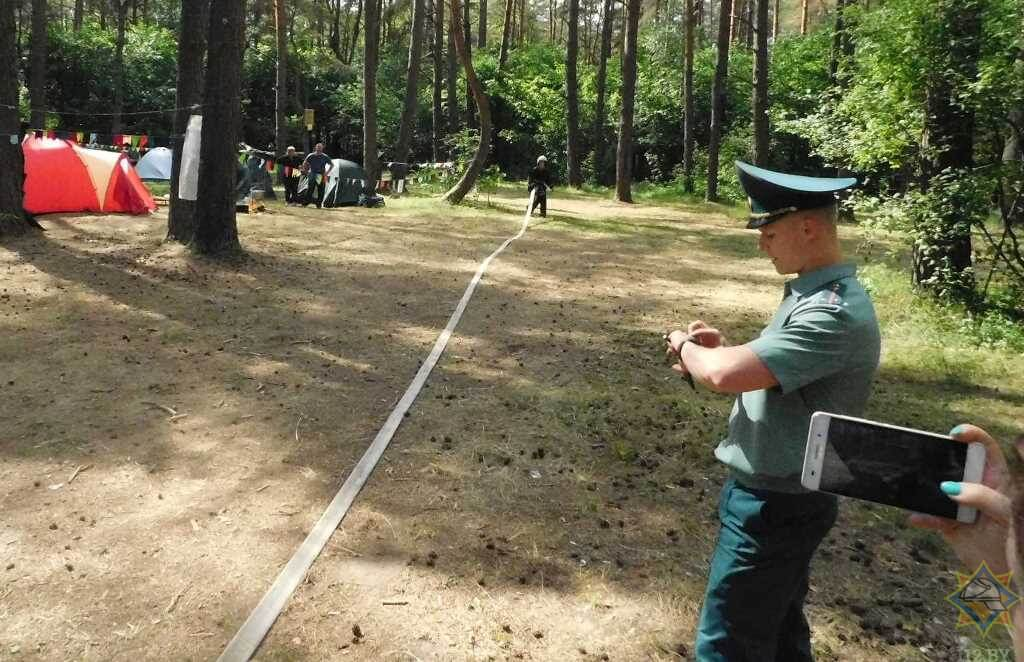 Под Лидой прошёл полевой слет юных спасателей-пожарных