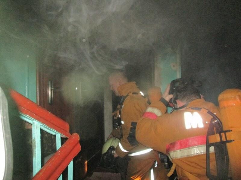 В Лиде горела пятиэтажка