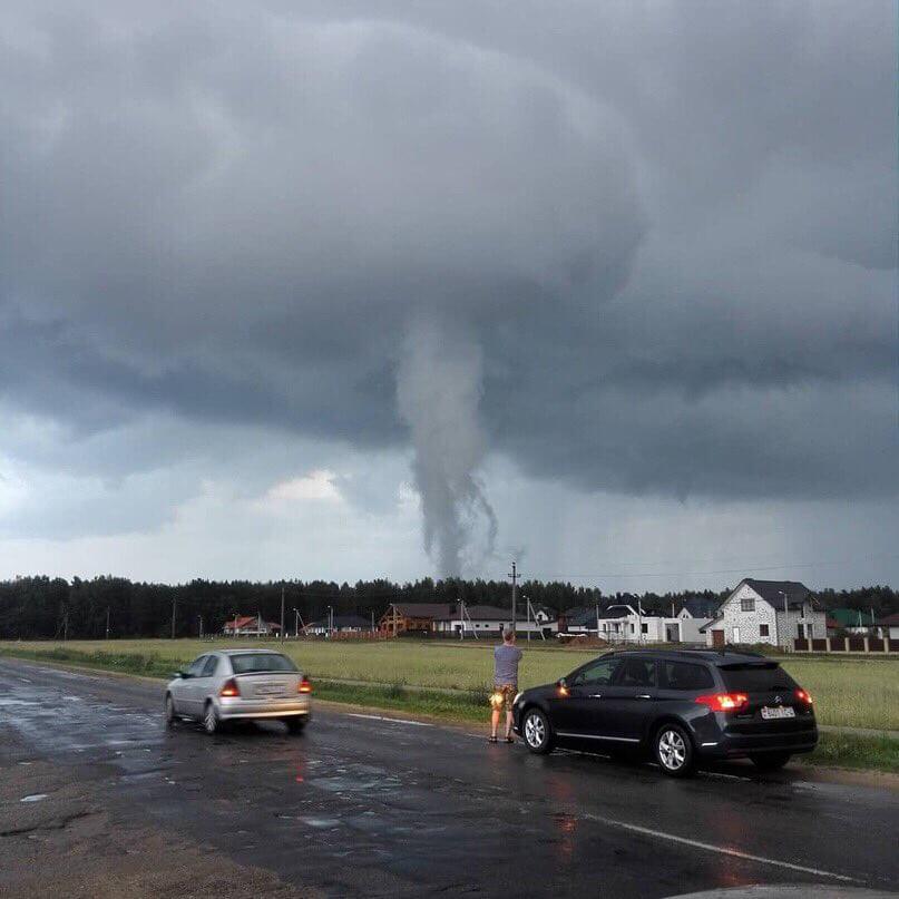 В Лиде заметили «почти торнадо»