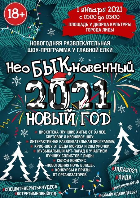 Новогодняя ночь у главной ёлки Лиды пройдёт 1 января