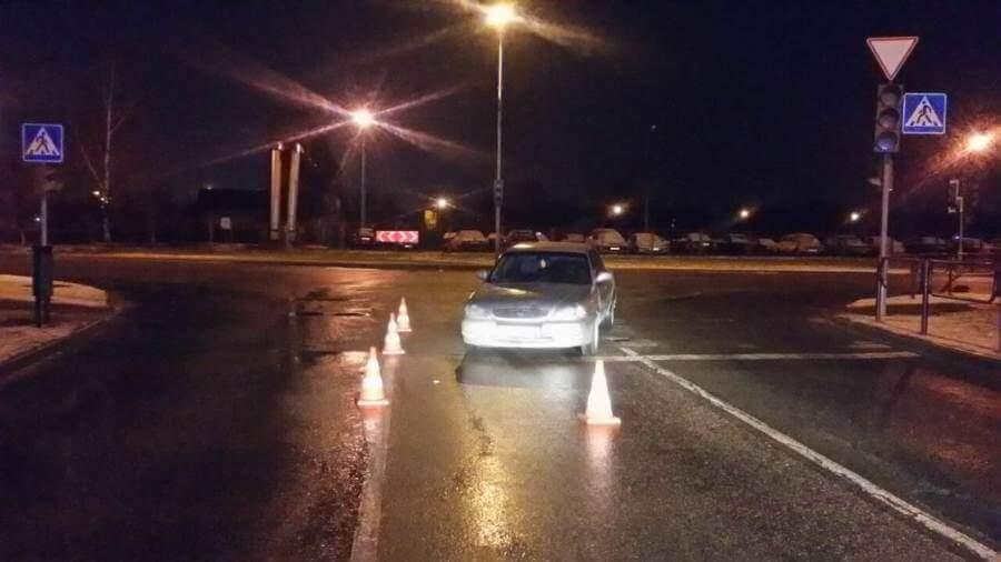 В новогоднюю ночь в Лиде на пустой дороге трезвый водитель сбил пешехода