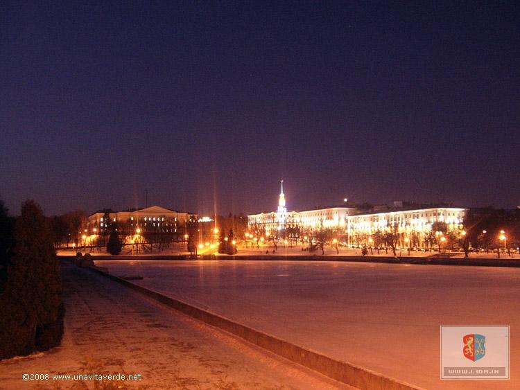 Панорама с моста через р.Свислочь по пр-ту Независимости